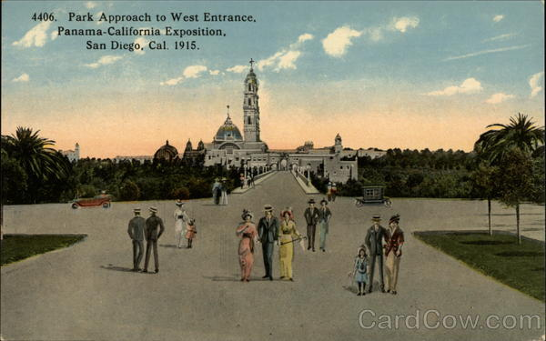 Park Approach to West Entrance, Panama-California Exposition San Diego