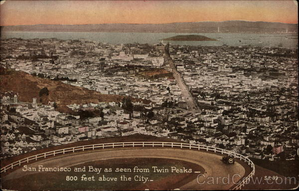 San Francisco and Bay as Seen from Twin Peaks California