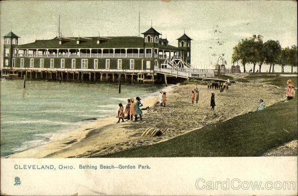 Bathing Beach, Gordon Park Antique Postcard