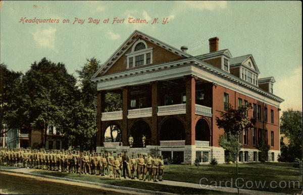 Headquarters on Pay Day, Fort Totten Bayside New York