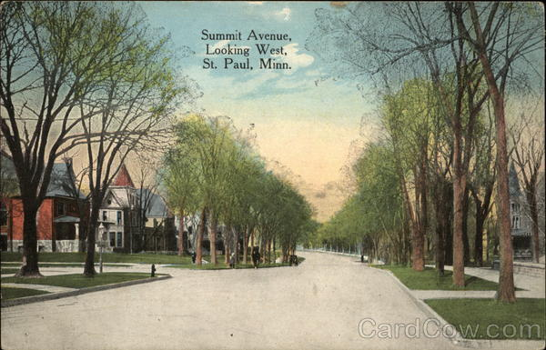 Summit Avenue, Looking West St. Paul Minnesota