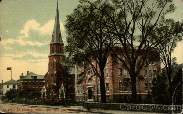 St. Charles Church, School and Parochial Residence Waburn Massachusetts