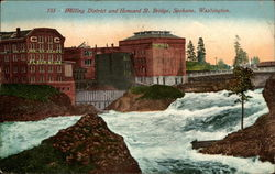 Milling District and Howard St. Bridge Postcard