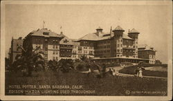 Hotel Potter, Edison Mazda Lighting Used Throughout Postcard