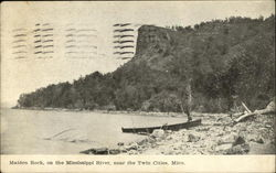 Maiden Rock, on the Mississippi River Postcard