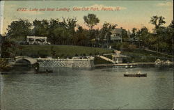 Lake and Boat Landing, Glen Oak Park