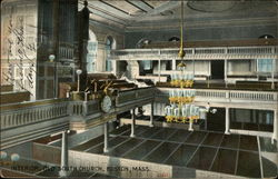 Interior, Old South Church Postcard