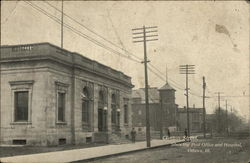 Clinton Street, Showing Post Office and Hospital