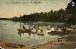 Scene at Sand Beach, Highland Lake, Venoge
