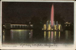 Night Display, Electric Fountain, Willow Grove Park