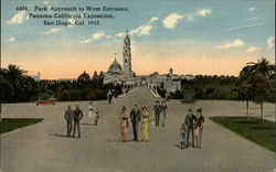 Park Approach to West Entrance, Panama-California Exposition