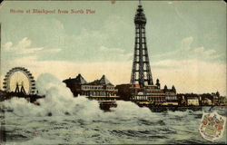 Storm from North Pier Postcard
