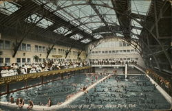 Interior of the Plunge Postcard