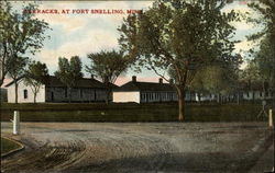 Barracks at Fort Snelling, Minn Postcard