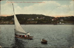 View from New York Yacht Club Station Postcard