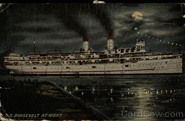 SS Roosevelt at Night Boats, Ships