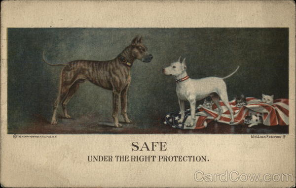 Safe Under the Right Protection Dogs Advertising