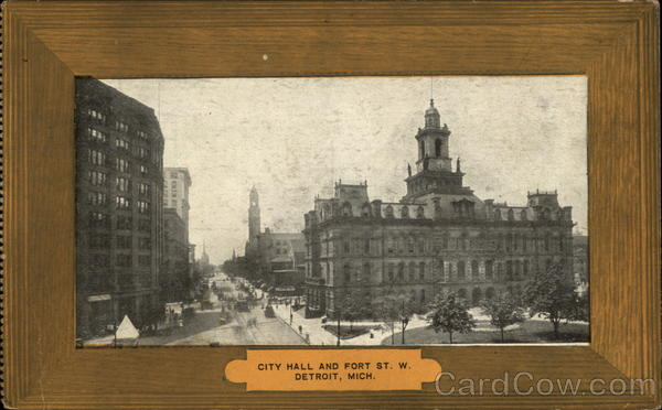 City Hall and Fort St. W Detroit Michigan