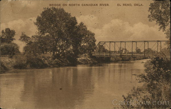 Bridge on North Canadian River El Reno Oklahoma