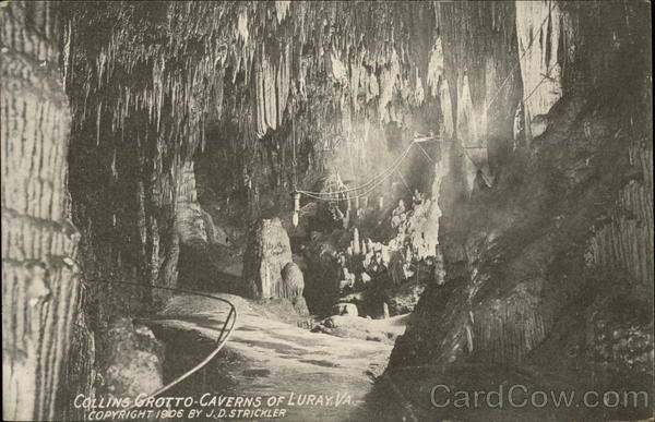 Collins Grotto - Caverns of Luray Virginia J.D. Strickler
