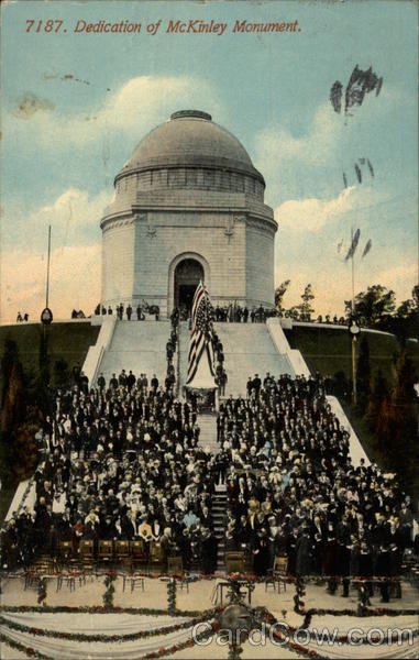 Dedication of McKinley Monument Canton Ohio