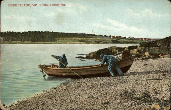 Going Fishing, Hope Island Cumberland Maine