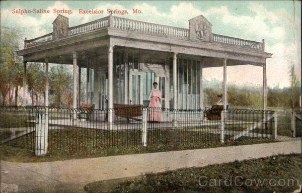 Excelsior Springs, Missouri MO ~ New Sulpho Saline Pagoda