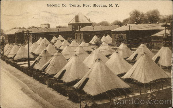 Second Co. Tents Fort Slocum New York