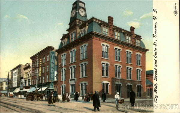 City Hall, Broad and State St Trenton New Jersey