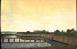 The Entrance and Moat, Fortress Monroe Postcard