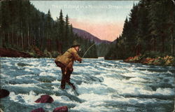Trout Fishing in a Mountain Stream-1484