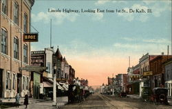 Lincoln Highway, Looking East from 1st St
