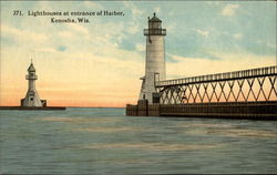 Lighthouses at Entrance of Harbor