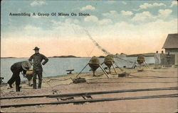 Assembling a Group of Mines on Shore