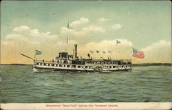 "Steamboat ""New York"" among the Thousand Islands"