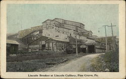 Lincoln Breaker at Lincoln Colliery Postcard