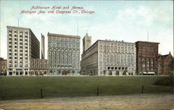 Auditorium Hotel and Annex, Michigan Ave. and Congress St Postcard