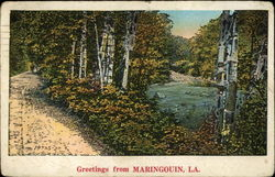Greetings - View of Country Road and River