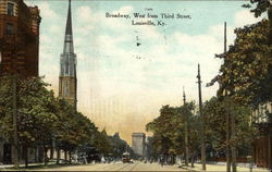 Broadway, West from Third Street