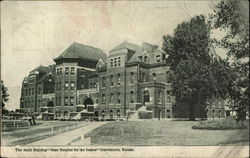 The Adair Building - State Hospital for the Insane Postcard