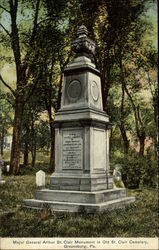 Major General Arthur St. Clair Monument in Old St. Clair Cemetery Postcard
