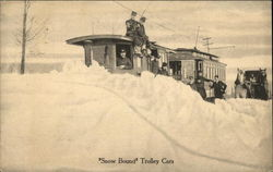 Snow Bound Trolley Cars
