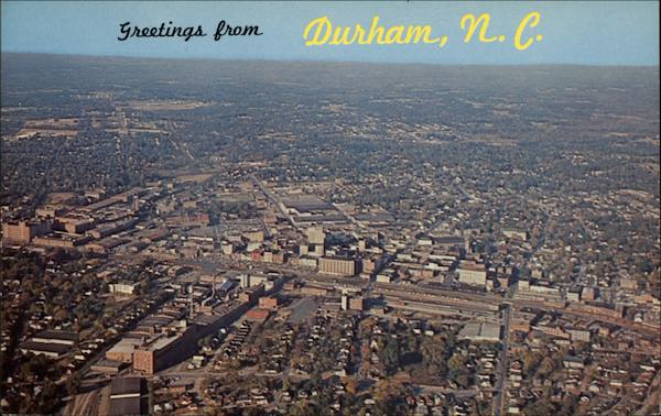 Aerial View Of City Durham Nc
