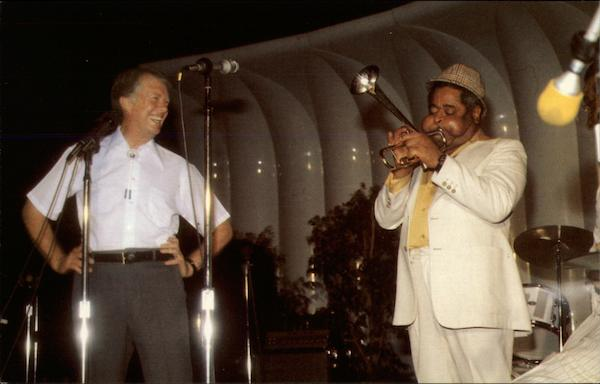 Jimmy Carter and Dizzy Gillespie at the White House Washington District of Columbia