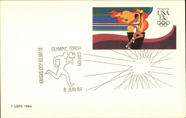 1984 Olympics FDS First Day Issue Cards