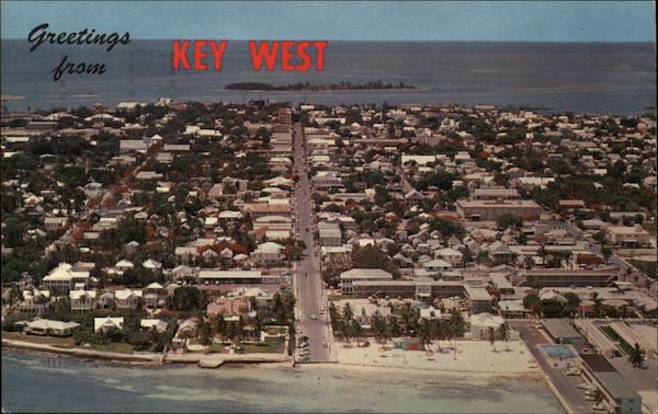 Airview of City Key West Florida Lewis McLain