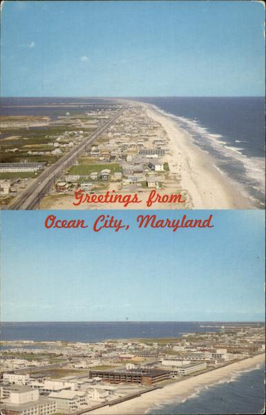 Sinepuxent Bay and The Atlantic Ocean Ocean City Maryland