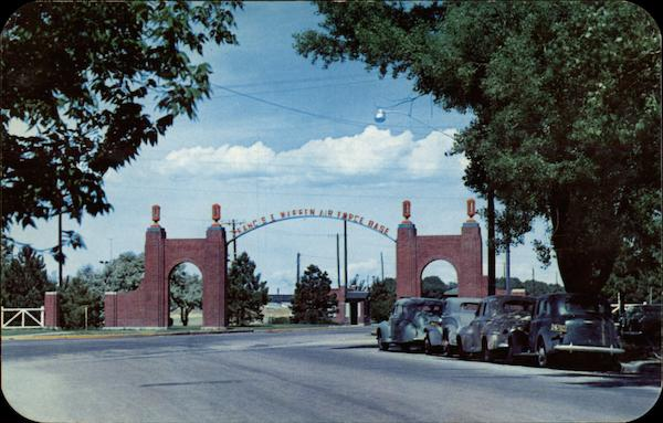 Entrance Gate to F.E. Warren Air Force Base Cheyenne Wyoming