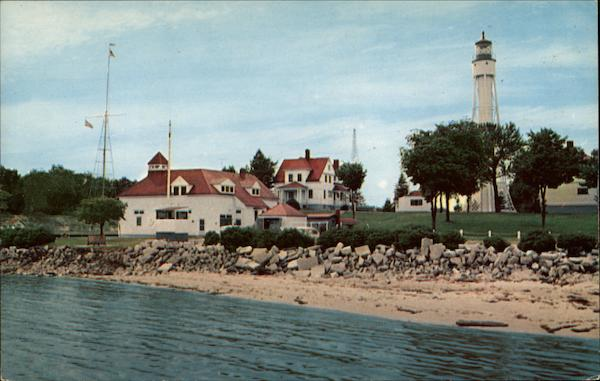 Coast Guard Station and Light House Sturgeon Bay Wisconsin