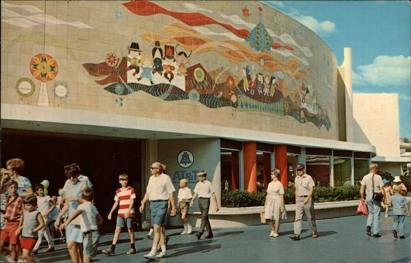 Corridor of Murals, Tomorrowland, Disneyland Anaheim California